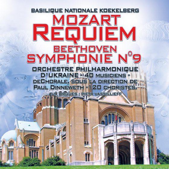 Mozart Requiem_Beethoven symphonie, Basilique Koekelberg, orchestra national d'Ukraine philharmonique, 40 musiciens, 120 choristes, deChorale, sous la direction de Paul Dinneweth