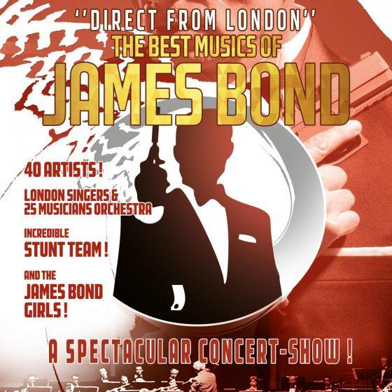 James Bond from Goldfinger to Moonracker, The music Of Bond, a fabulous concert-adventure