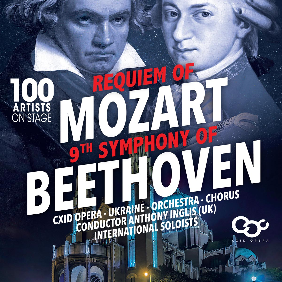 The Requiem of Mozart and the 9th Symphony of Beethoven, Basilica of Koekelberg.