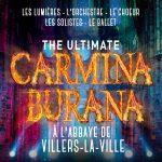The ultimate Carmina Burana, à l'abbaye de Villers-La-Ville, Les lumières, l'orchestre, le choeur, les solistes, le ballet
