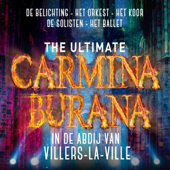 The ultimate Carmina Burana, in de abdij van Villers-La-Ville, de be belichting, het rocket, het koor, de solisten, het ballet