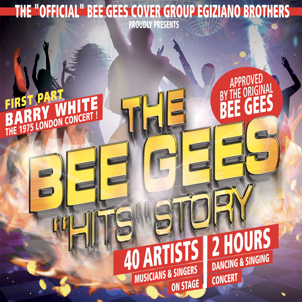 The Bee Gees - Hits Story... Cover (Egiziano Brothers) approved by the original Bee Gees
