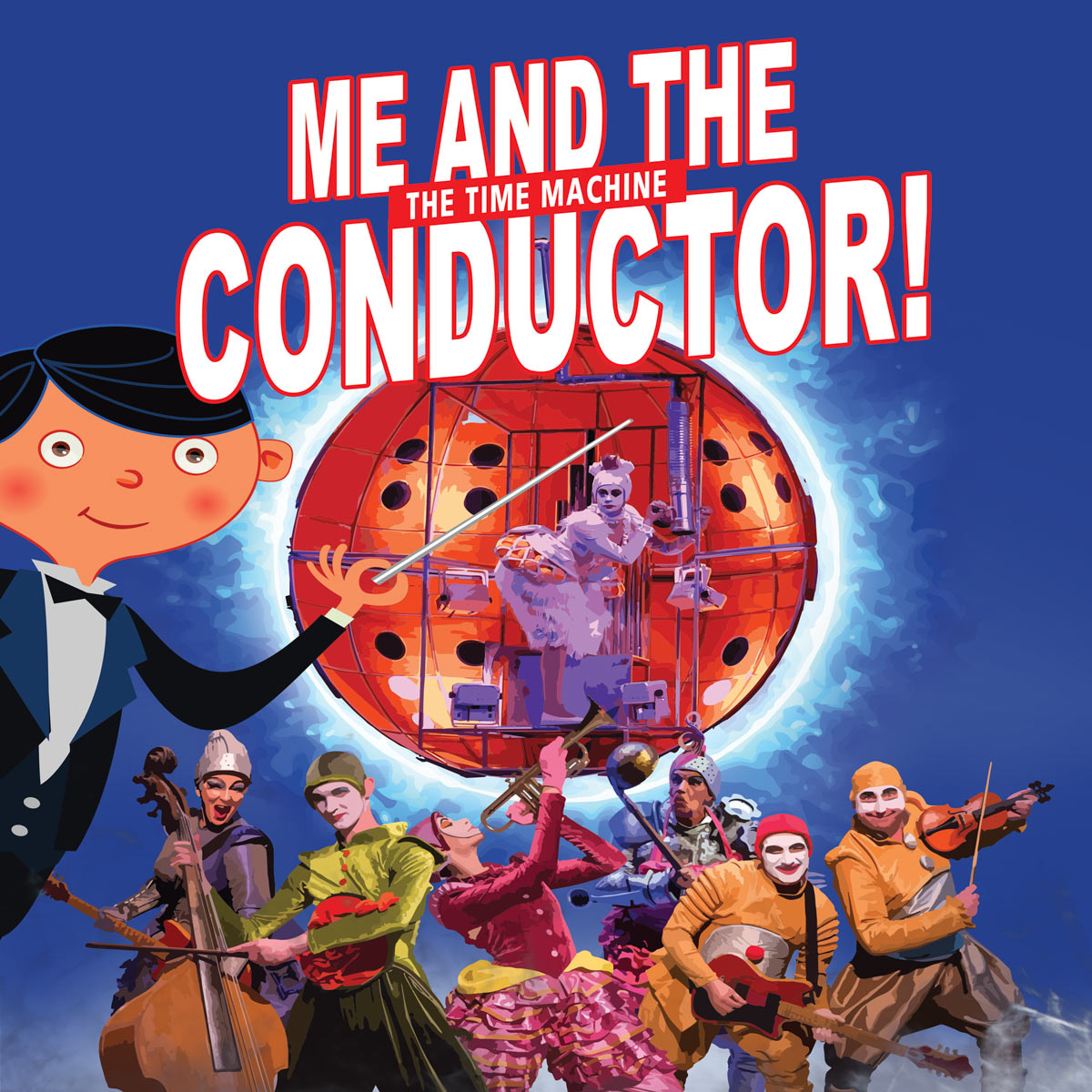 Me and the conductor, the time machine!