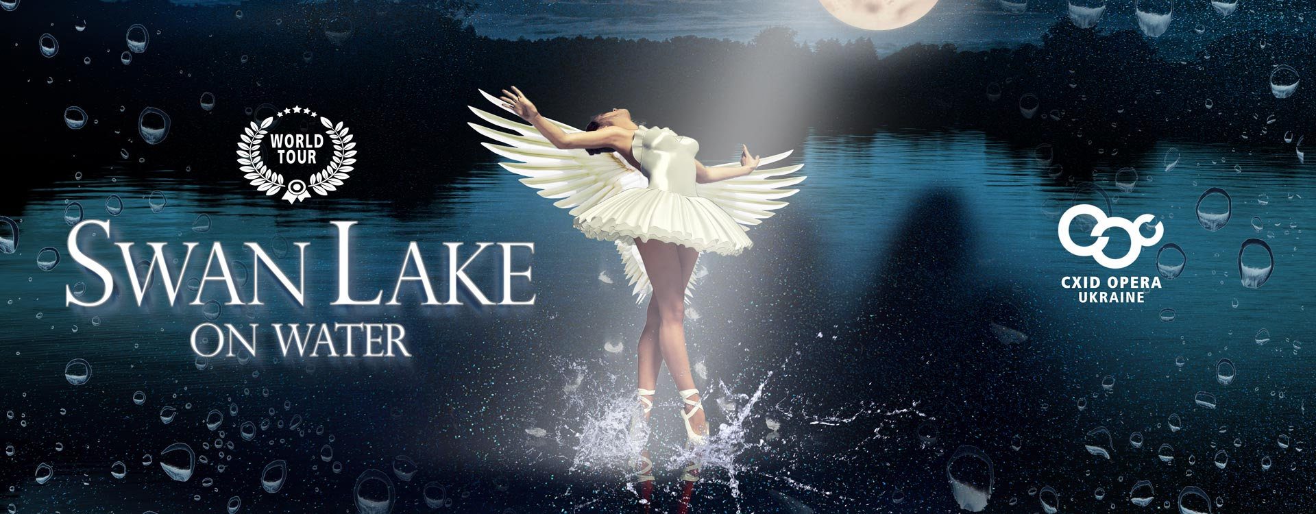 Swan lake on water, World TOUR, Cxid Opera Ukraine