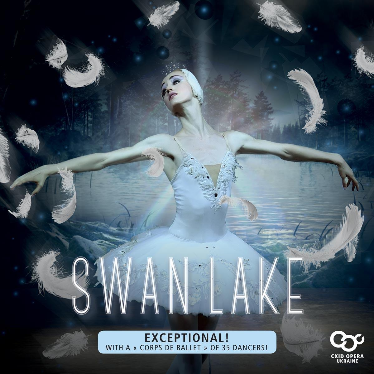 "Swan Lake, exceptional, "" Corps de ballet "" of 35 dancers"