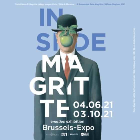 inside Magritte, Emotion exhibition, Brussels-Expo