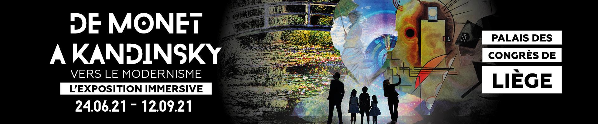 Monet to Kandinsky, exposition immersive, vers le modernisme